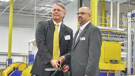 Daniel Young & Lanny Pickens Cut the Ribbon at ESAB's New Facility